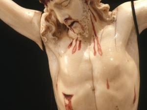 Museo Diocesano de San Sebastián. Escultura. Detalle de Cristo Crucificado