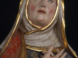 Museo Diocesano de San Sebastián. Escultura. Detalle de Santa Ana