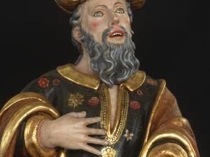Museo Diocesano de San Sebastián. Escultura. Detalle de San Joaquín