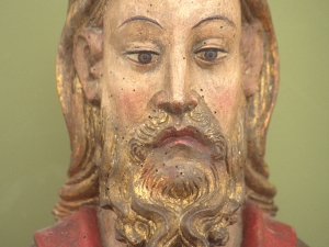 Museo Diocesano de San Sebastián. Escultura. Detalle de Cristo bendiciente