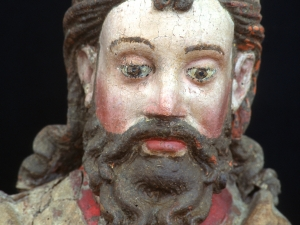 Museo Diocesano de San Sebastián. Escultura. Detalle de Santiago Matamoros