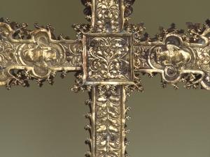 Museo Diocesano de San Sebastián. Detalle de Cruz procesional