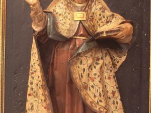 Museo Diocesano de San Sebastián. Relieve. Santo obispo