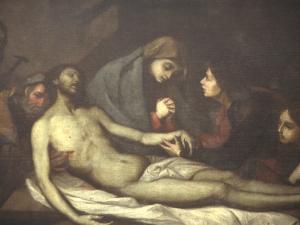 Museo Diocesano de San Sebastián. Pintura. Detalle del Entierro de Cristo