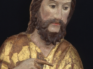 Museo Diocesano de San Sebastián. Escultura. Detalle de San Juan Bautista