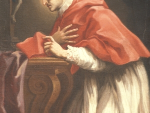 Museo Diocesano de San Sebastián. Pintura. Detalle de San Carlos Borromeo