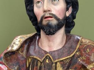 Museo Diocesano de San Sebastián. Escultura. Detalle de Santo