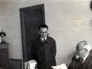 Guillermo Niessen Errenteriako Niessen enpresaren bulegoan (Gipuzkoa)