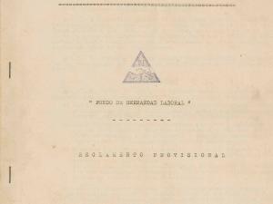 Reglamento provisional del Fondo de Hermandad Laboral de la empresa Niessen en Errenteria (Gipuzkoa)