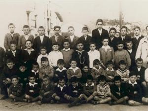 Ormaiztegiko eskolaumeak 1928-29 ikasturtean.