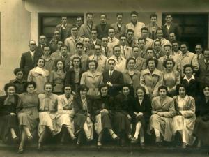Ormaiztegiko San Andres abesbatza 1949 urtean.