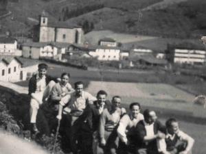 Ormaiztegiko zortzikotea 1950. urte inguruan.