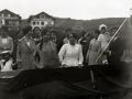 """BOTADURA DE LA EMBARCACION """"OCTUBRE"""" EN EL ASTILLERO ARRIZABALAGA Y OLATZ EN ZUMAIA. (Foto 2/3)"""