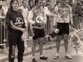 Entrega de premios de una competición ciclista
