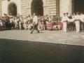 Dantzariak herriko plazan