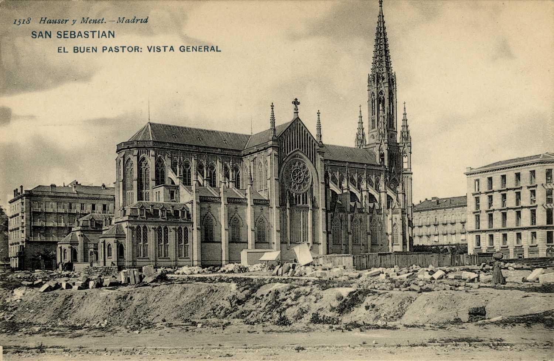 Foto antigua de Catedral del Buen Pastor.