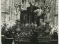 San Sebastián : paso de San Vicente frente a la iglesia de Santa María en Viernes Santo