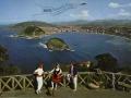 San Sebastián : vista de San Sebastián (Spain) : en agradecimiento a su visita Restaurante Anastasio, Víctor Pradera 19