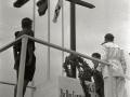 EL GOBERNADOR CIVIL LUIS RODRIGUEZ DE MIGUEL Y OTRAS AUTORIDADES EN EL CAMPAMENTO DE LAS O.J.E EN ORIO. (Foto 8/13)