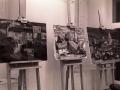 Cuadros ganadores de los primeros premios de un concurso de pintura