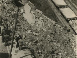Desprendimiento de la carretera del Alto de Buenavista (antes avenida de Ignacio de Casares)