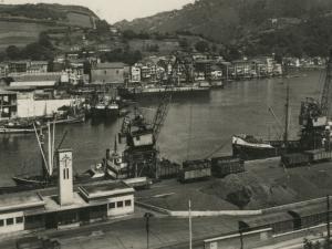 Vista desde Buenavista del puerto de Herrera, en frente Trintxerpe y Pasai San Pedro, y a la derecha Pasai Donibane
