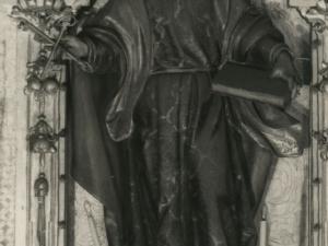 Imagen de San Pedro situada en la iglesia San Juan Bautista