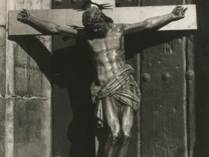 Imagen del Santo Cristo de Bonanza situada en la iglesia de Bonanza