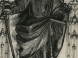Imagen de San Pablo situada en la iglesia San Juan Bautista