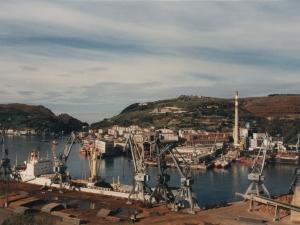 Vista desde Don Bosco del puerto de Pasaia