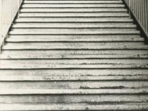 Escaleras de acceso a la estación de tren de Pasaia-Molinao
