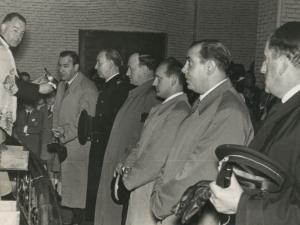 Autoridades en la misa celebrada en la parroquia de Nuestra Señora del Carmen