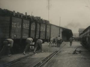 Vías del ferrocarril en Pasai Antxo