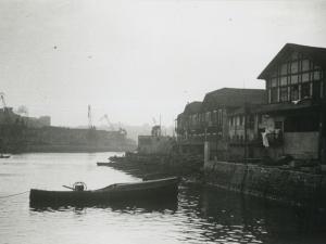 Viviendas de pescadores en el puerto de Pasaia