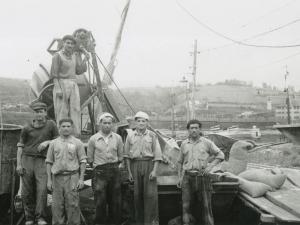 Operarios del puerto de Pasaia