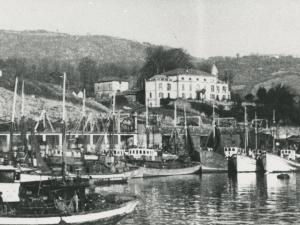 Barcos pesqueros atracados en el muelle de Pasaia