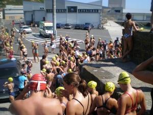 Travesía a nado Getaria-Zarautz 2009
