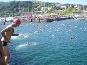 Travesía a nado Getaria - Zarautz 2009