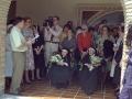 Angel Iturbe ofreciendo un discurso en el acto de homenaje a dos religiosas
