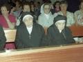 Monjas homenajeadas durante los actos religiosos con motivo de su homenaje