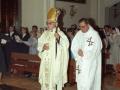 Clérigos durante los actos de homenaje a dos monjas