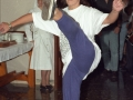 Dantzari bailando durante los actos en homenaje a dos religiosas