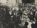 Festejos celebrados con motivo de las Fiestas Euskaras y Patronales : las autoridades después de la ceremonia
