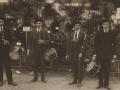 Festejos celebrados con motivo de las Fiestas Euskaras y Patronales : la banda de txistularis de San Sebastián que tomo parte en el concurso