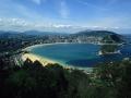 Vista panorámica de San Sebastián desde el monte Ulia