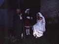 La Virgen María con el Niño Jesús en el Belén viviente