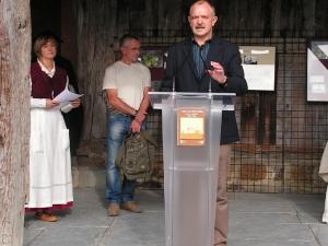 Rafael Uribarren, Diputado de Desarrollo del Medio Rural, en la inauguración de la Semana de la Sidra en Igartubeiti