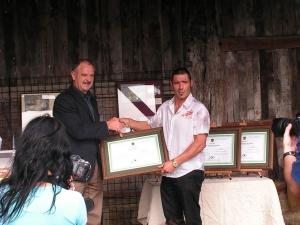 Entrega de diplomas a los ganadores del VIII Concurso de Sidra Premios Diputación Foral de Gipuzkoa