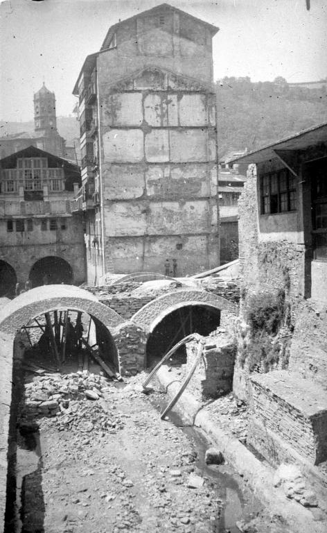 """""""Reconstruccion de Eibar. Desviacion del rio Ego"""""""