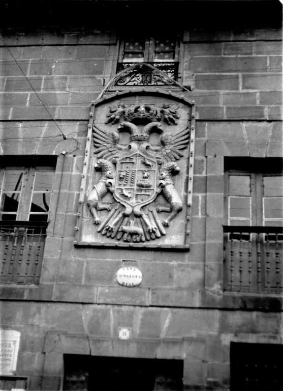 """""""Arechabaleta. Escudo de armas de la fachada del Ayuntamiento de Arechabaleta"""""""